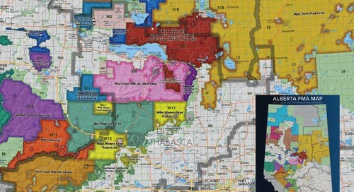 Accord d'aménagement des forêts en Alberta, avec frontières du cadre d'aménagement du territoire