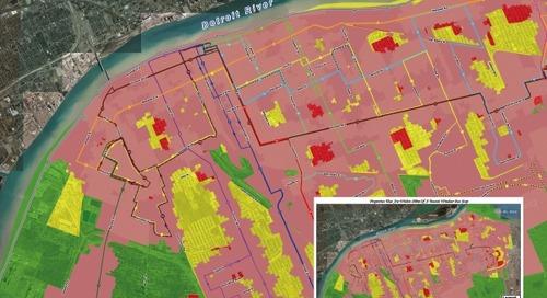 Analyse de la distance de marche de Transit Windsor