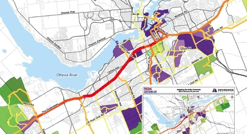 Cartographie du trajet domicile-travail des résidants d'Ottawa