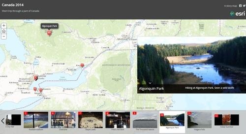 Deuxfaçons de documenter et de partager vos aventures estivales avec ArcGIS