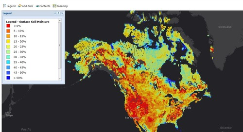 Application du mois de septembre:Carte de la saturation en eau de la surface du sol, par Agriculture et Agroalimentaire Canada