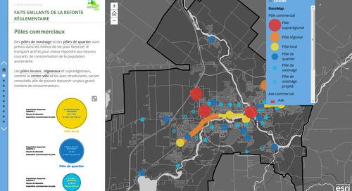 Application du mois d'avril : Carte récit des faits saillants de la refonte réglementaire de la Ville de Sherbrooke