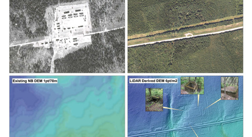 Utilisation de LiDAR aux fins de repérage d'un ancien camp d'internement à Ripples, au Nouveau-Brunswick