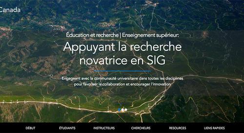 EsriCanada ouvre son nouveau site web sur l'enseignement supérieur
