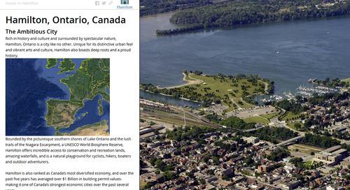 Un journal cartographique aide la ville de Hamilton à attirer des investissements