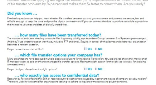 Test your file transfer capabilities with 5 simple questions