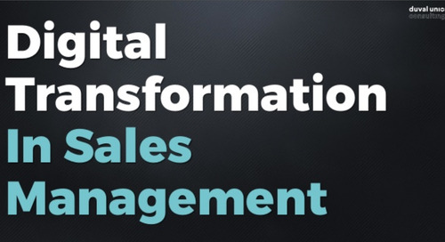 Digital Transformation in Sales Management