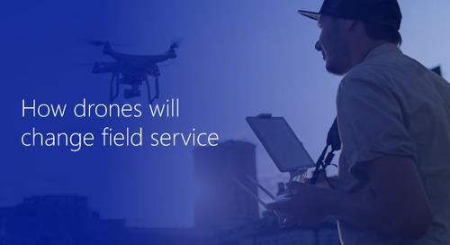 Application of drones in field service