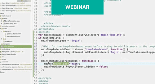 Webinar: Building a secure Polymer app with Spring backend