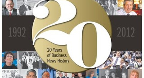 Hartford Business Journal 20th Anniversary