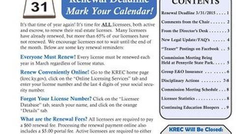 2015 KREC Newsletter 1
