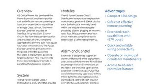 GE Critical Power_Power Express Class 2 Distribution Brochure