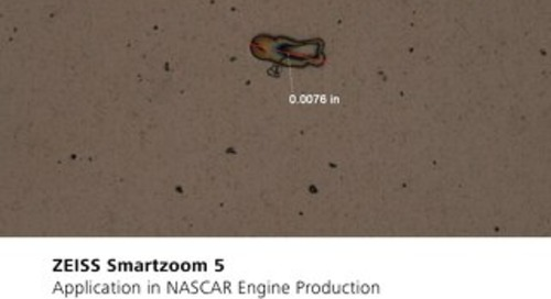 ZEISS Smartzoom 5 Application in NASCAR Engine Production