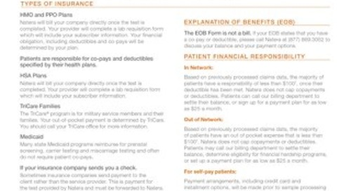 Natera Payment Guide