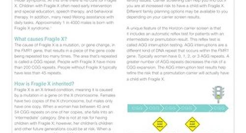 Fragile X Fact Sheet