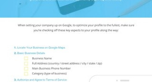 Setting Your Business' Google Profile Checklist