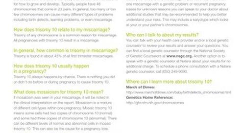 Trisomy 10: Anora Report Supplement