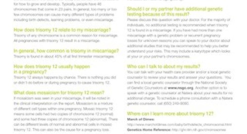 Trisomy 12: Anora Report Supplement