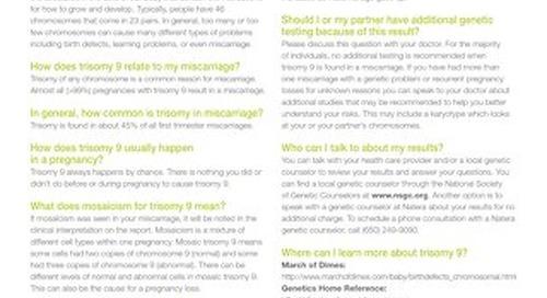 Trisomy 9: Anora Report Supplement
