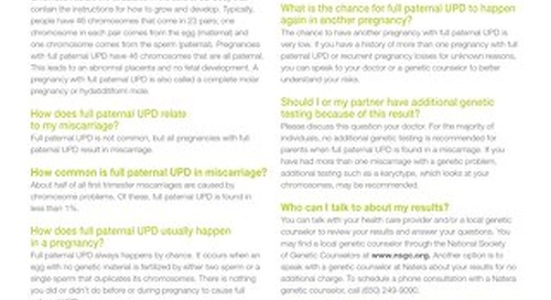 Full Paternal UPD: Anora Report Supplement
