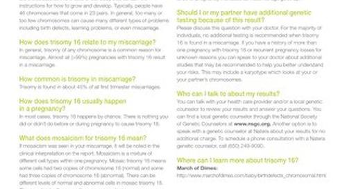 Trisomy 16: Anora Report Supplement