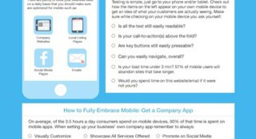 Mobile Optimization Cheat Sheet