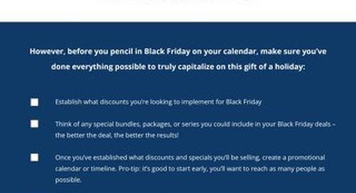 Black Friday Checklist