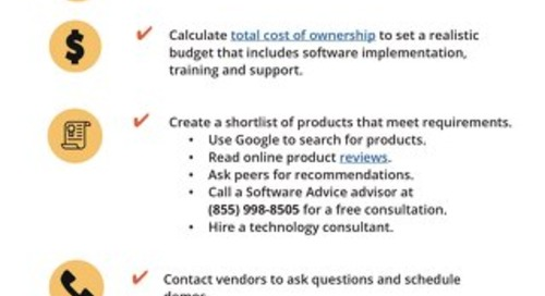 Accounting Software Selection Tip Sheet
