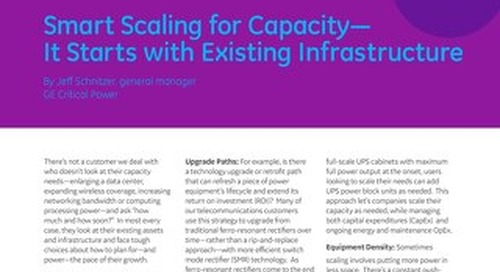 Smart Scaling for Capacity - It Starts with Existing Infrastructure