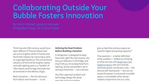 Collaborating Outside Your Bubble Fosters Innovation