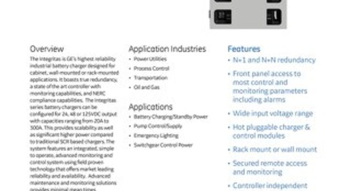 Integritas Industrial Battery Charger