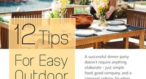 12 Tips for Outdoor Entertaining