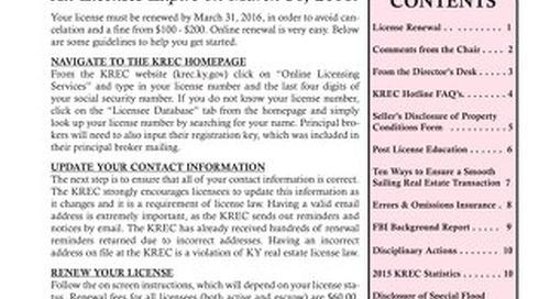 2016 KREC Newsletter 1 - Winter