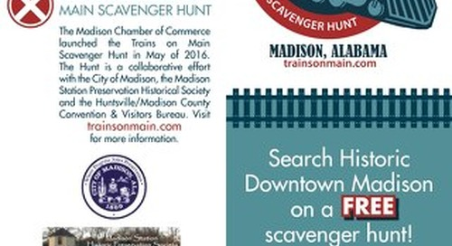 Trains on Main Scavenger Hunt Clue Card