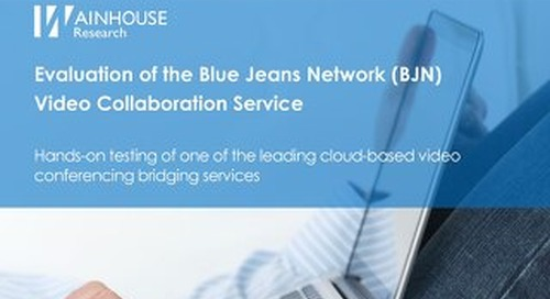 Wainhouse Evaluation of BlueJeans