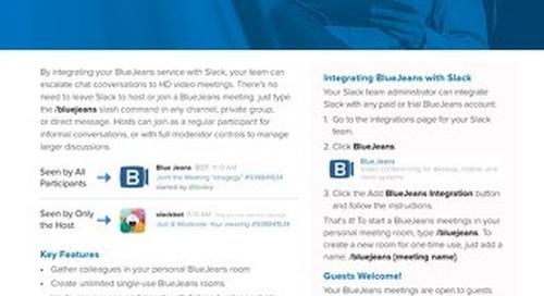 BlueJeans Integration for Slack