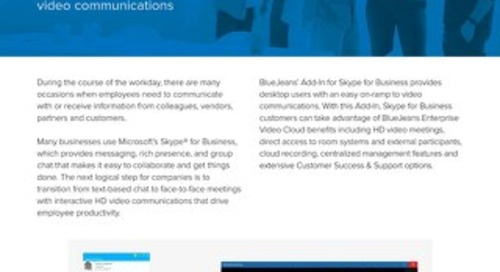 BlueJeans for Skype for Business