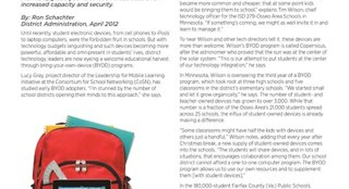 Creating a Robust and Safe BYOD Program for School Districts