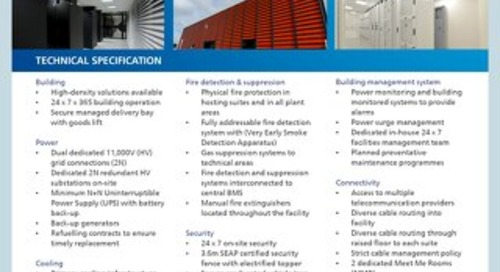 UK Hemel Hempstead 3 Data Center Tech Spec