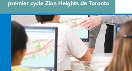La technologie géospatiale améliore l'apprentissage dans l'ensemble du programme à l'école secondaire de premier cycle Zion Heights