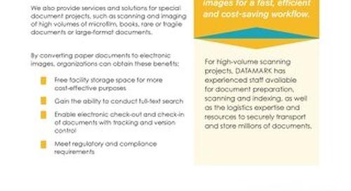 Scanning & Imaging Services Brochure