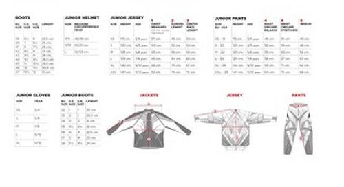 Gear Size Chart