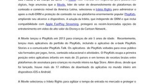 A Movile seleciona a Irdeto para proteger o fornecimento de vídeos de alto valor na popular plataforma PlayKids
