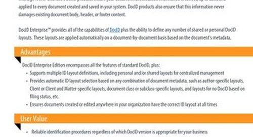 Datasheet: DocID Enterprise