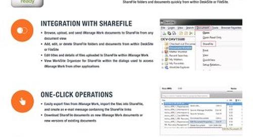 Datasheet: WorkSite Organizer for Citrix ShareFile
