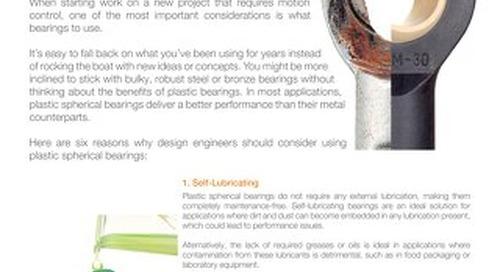 6 Reasons for Plastic Spherical Bearings