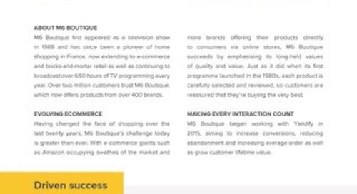 Yieldify case study - M6 Boutique