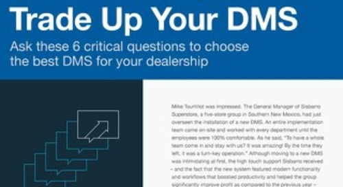 Trade Up Your DMS