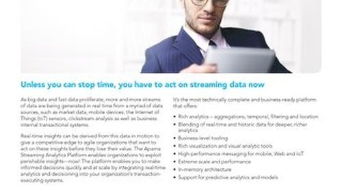 Apama Streaming Analytics