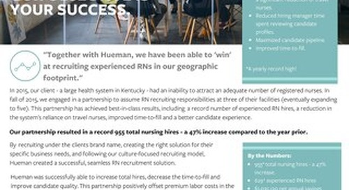 Hueman Partners with a Large Health System in Kentucky to Achieve Record Number of RN Hires [Case Study]